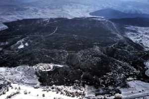 Aerial Near-InfraRed (NIR) image of the Table Rock Fire in Boise, Idaho, During the Burn.