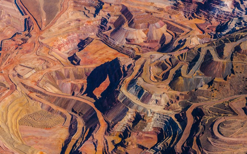 Aerial Photography-Mine in Northern Nevada, Near Thunder Mountain North of Lovelock.