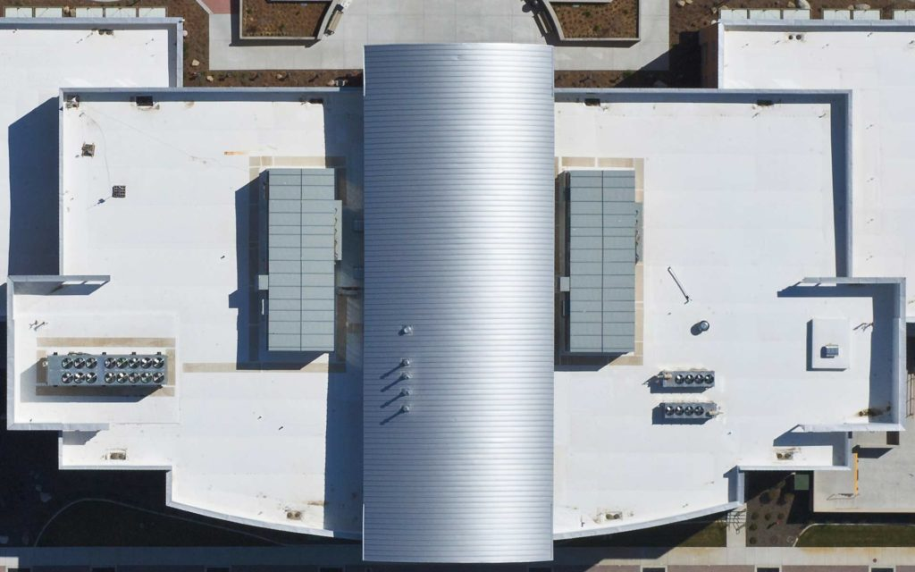 Forensic Aerial Photography-Roof of Meridian City Hall.