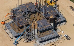 Forensic Aerial Photography, Steel Erection During Construction, LDS Temple, Meridian, Idaho.