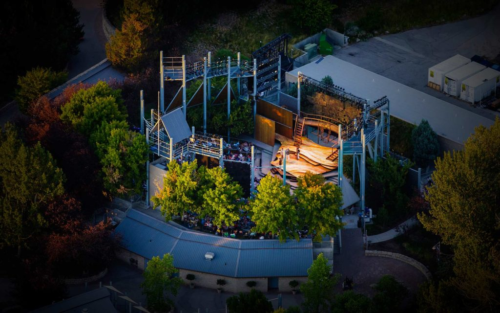 Aerial Photography-Night Aerial Photography at Boise Shakespeare Festival.
