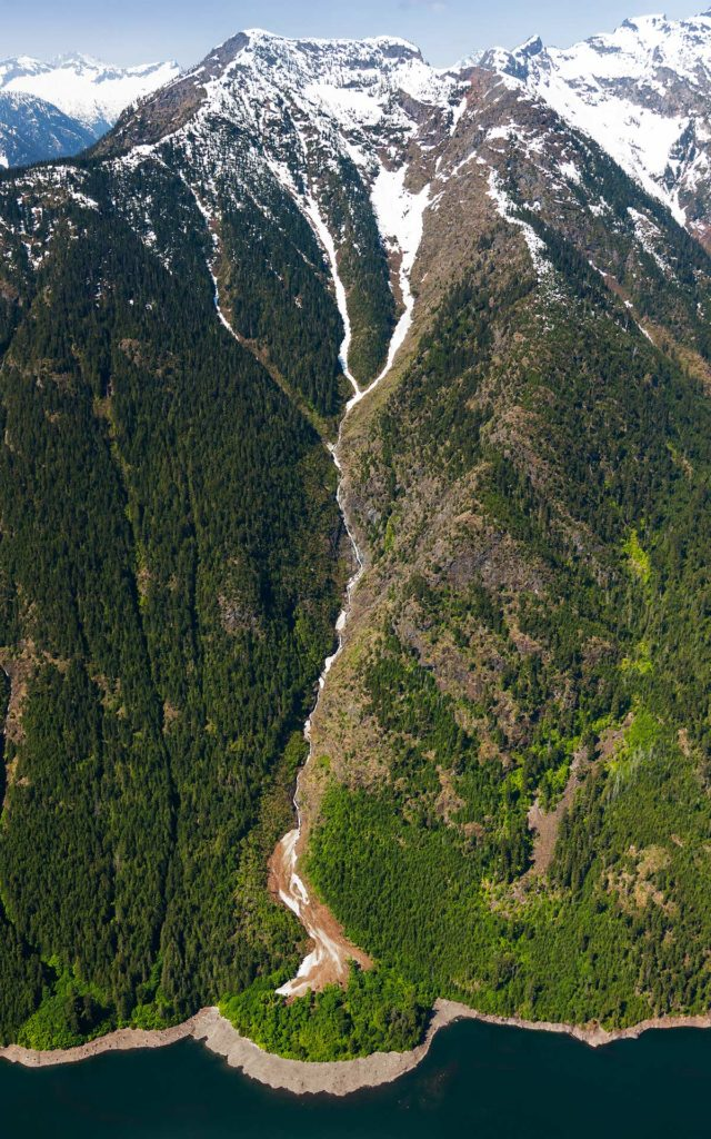 Aerial Photography-Alluvium With Factors, Ross Lake, Washington.