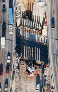 Forensic Aerial Photography, Bridge Construction and Adjacent Traffic Routing and Flow.