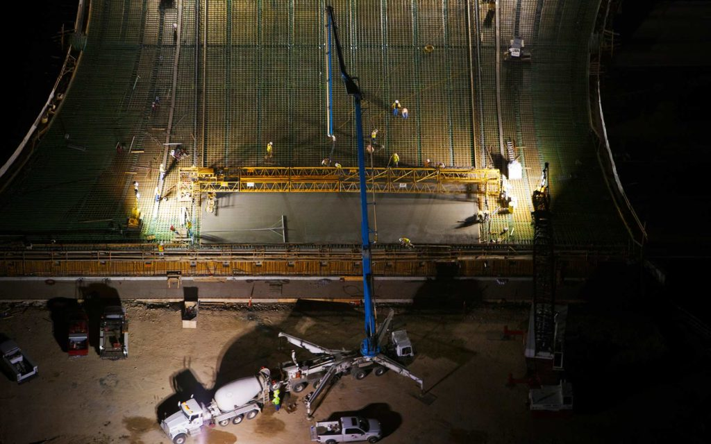 Forensic Aerial Photography-Cement Crane Night Pour.