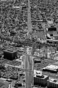 Near Infrared Aerial Photography, View South Along Broadway Blvd., Boise, Idaho.