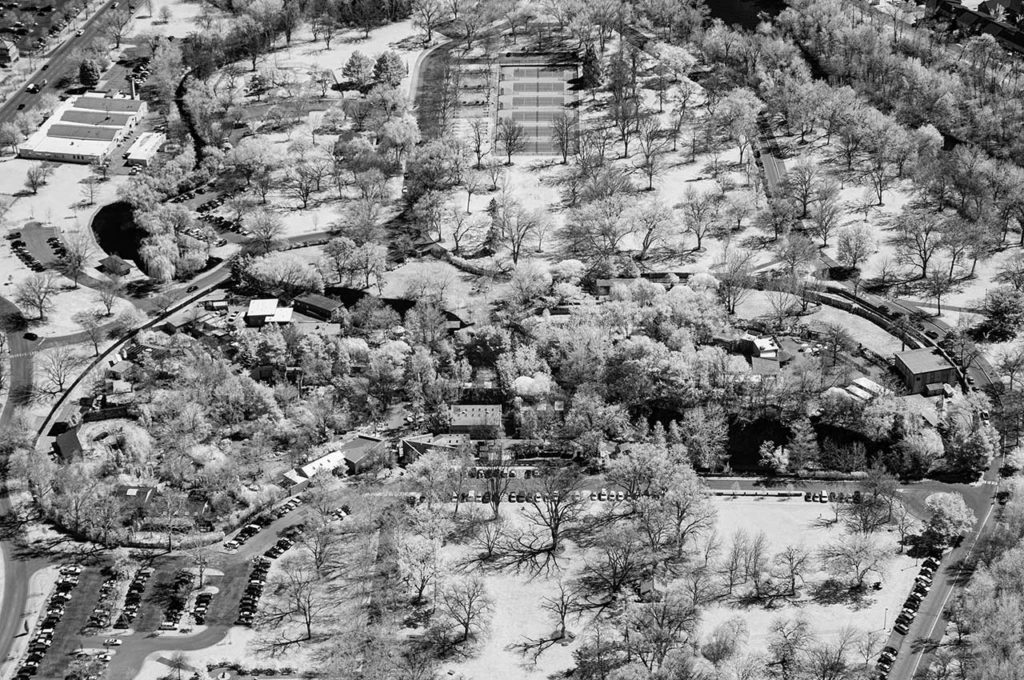 Near Infrared Aerial Photography-Zoo Boise, Downtown Boise, Idaho.