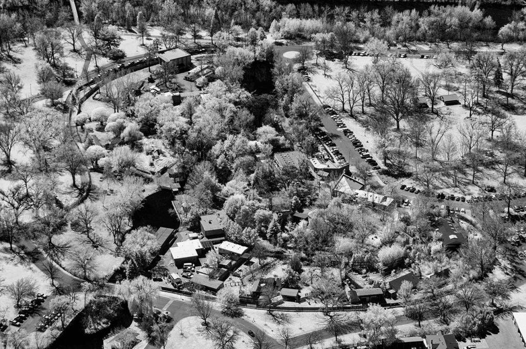 Near Infrared Aerial Photography-Zoo Boise in Downtown Boise, Idaho.