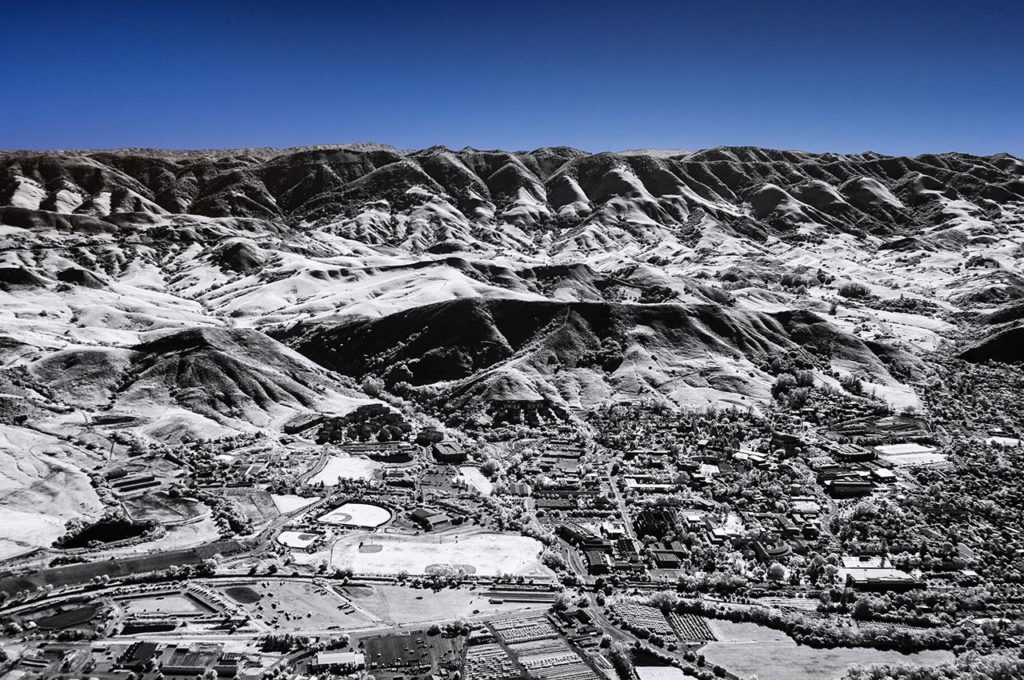 Near Infrared Aerial Photography-California Polytechnic University in San Luis Obispo, California.