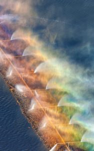 Aerial Photography, Rainbow in Aeration System, Amalgamated Sugar, Nampa, Idaho.