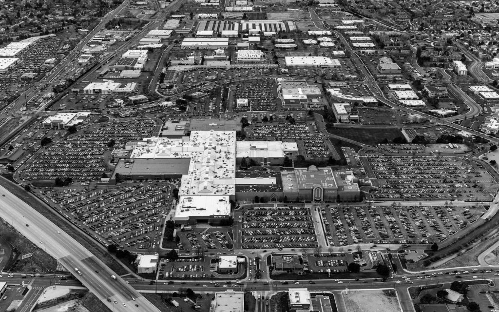 Forensic Aerial Photography-Shopping Traffic on Black Friday, Boise Towne Square Mall.