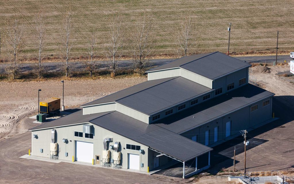 Aerial Photography-Filer Wastewater Treatment Plant Building.