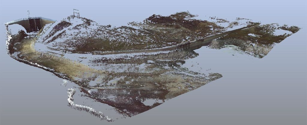 Spring LiDAR in Low Flow Conditions Provides Useful Baseline Data Around Sensitive Infrastructure and Context; Bathymetry and Structural Modeling with a Point Density of a Few Millimeters