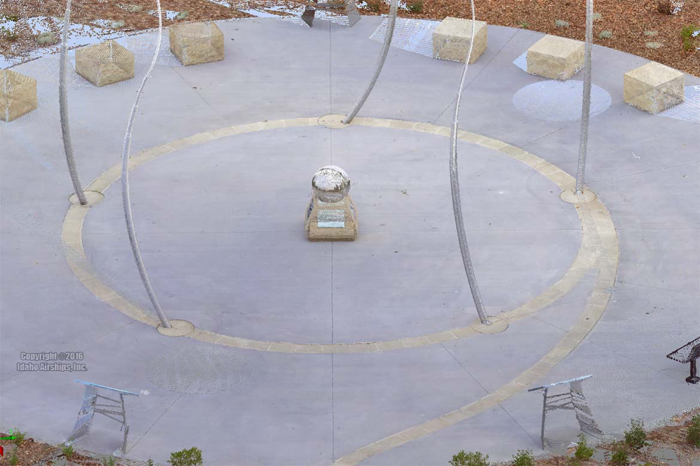 Bloch Cancer Memorial, Julia Davis Park, downtown Boise, Idaho. Point Cloud rendered via FARO X330 LiDAR unit.