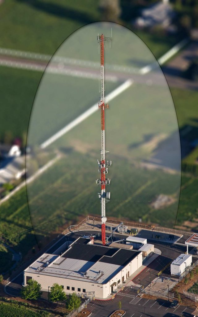 Aerial Photography-Communications/Data Antennae Tower, With Special Effects.