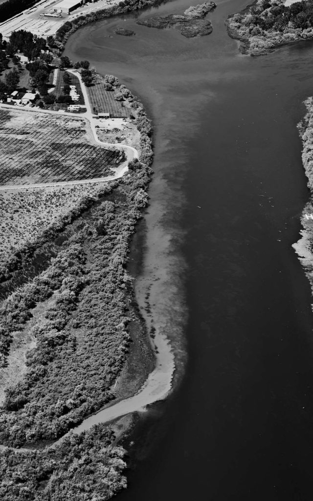 Forensic Aerial Photography-Agricultural Effluent into Snake River.