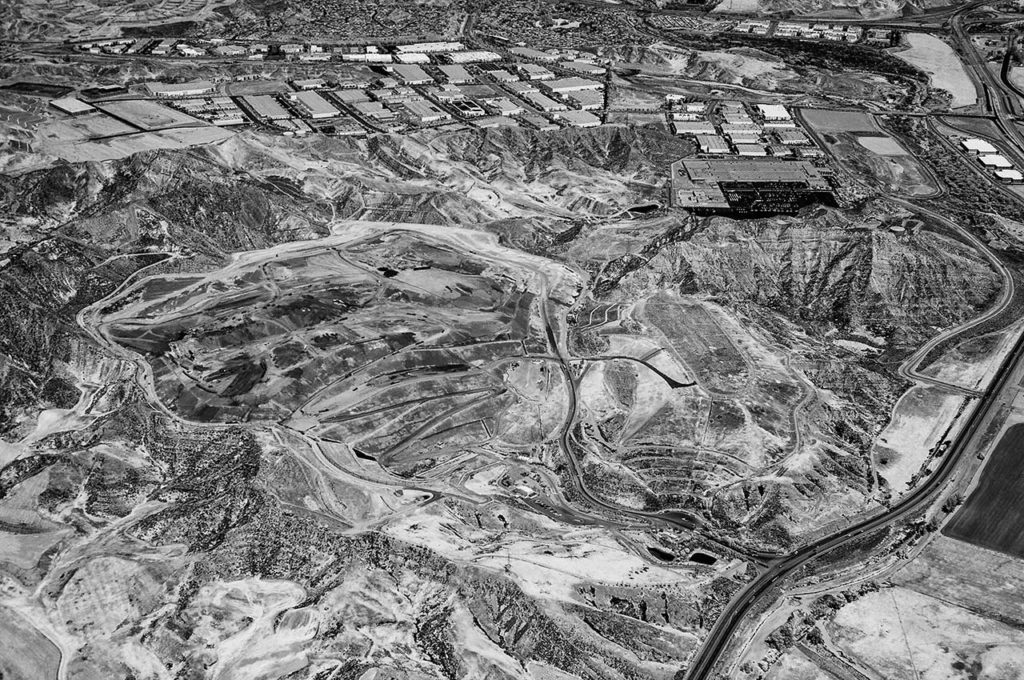 Near Infrared Aerial Photography-Chiquita Canyon Landfill Near Castaic Junction, (Near Los Angeles), California.