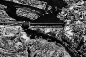 Near Infrared Aerial Photography, Barber Dam On the Boise River, East Boise, Idaho.