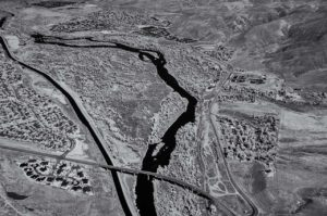 Near Infrared Aerial Photography, Boise River North of Idaho State Highway 21 in East Boise.