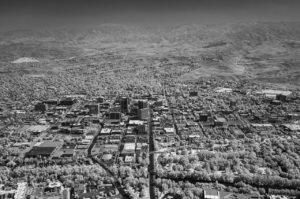 Near Infrared Aerial Photography, Downtown Boise, Idaho.