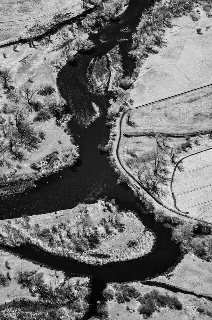 Near Infrared Aerial Photography-Boise River Near Parma, Idaho.