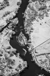 Near Infrared Aerial Photography, Boise River Near Parma, Idaho.
