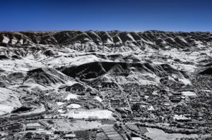 Near Infrared Aerial Photography, California State Polytechnic University, San Luis Obispo, California.