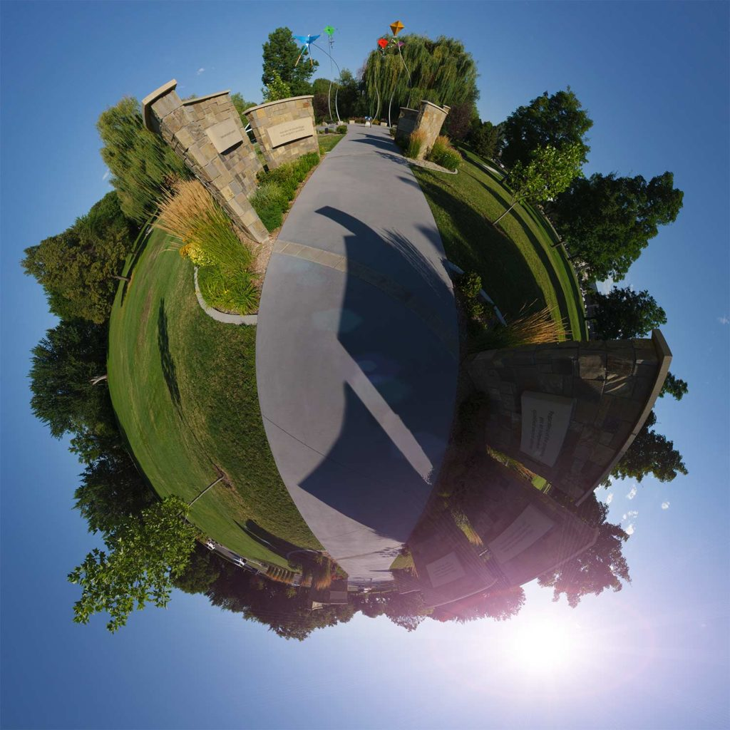 "Bloch Cancer Memorial Walkway ""Little Planet"" Photograph."