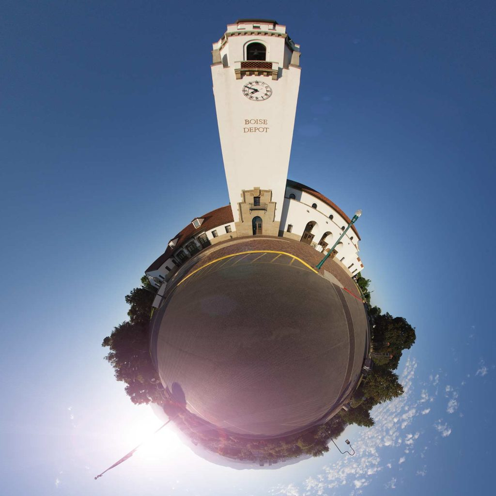 "Boise Depot ""Little Planet"" Photograph."