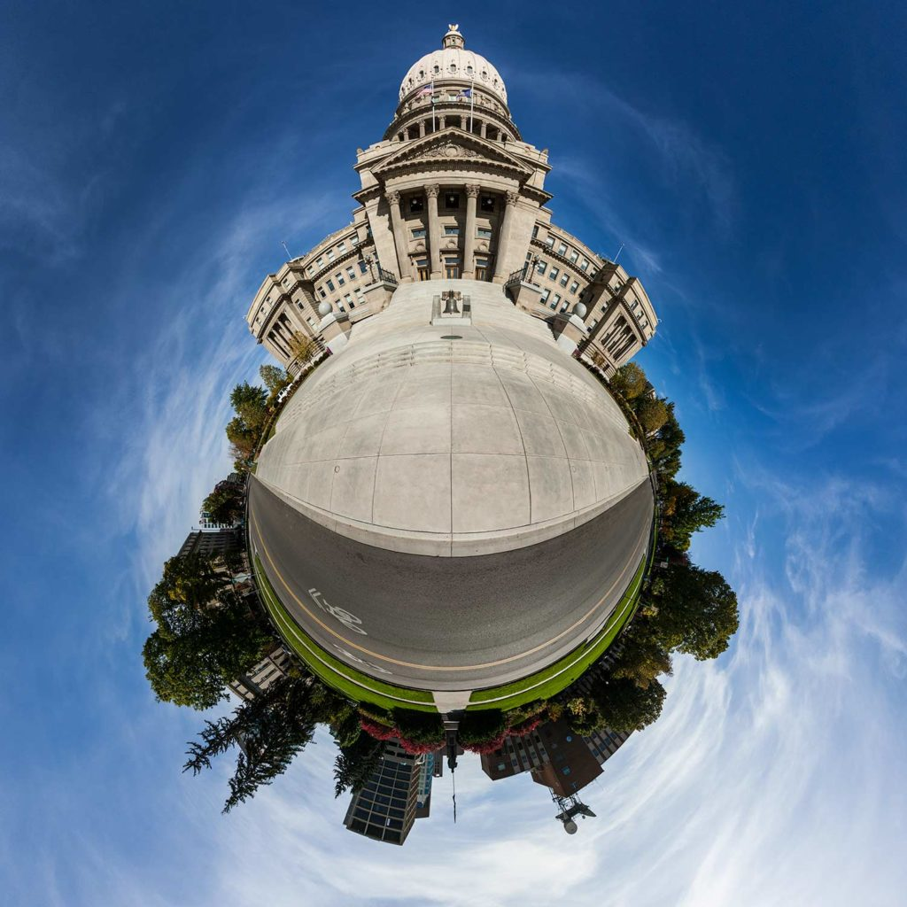 "Idaho State Capitol ""Little Planet"" Photograph."