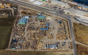 Aerial Photography, Manufacturing Yard For Asset Census.