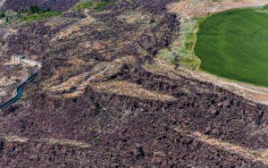 Aerial Photography, Escarpments in Malad Gorge Near Hagerman, Idaho.