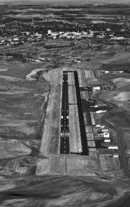 Aerial Photograhy, Pullman, Washington Airport and Washington State University.