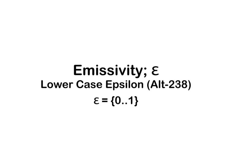 Emissivity Title Frame