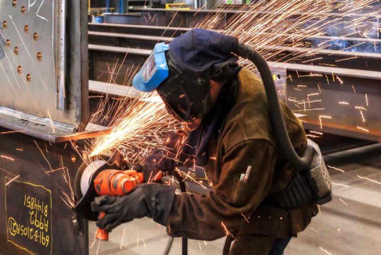 Steel Grinding Photograph